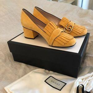 Gucci Marmont Suede Heels